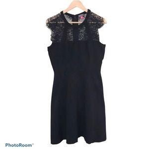 Vince Camuto Black Lace Yoke Sheath Dress